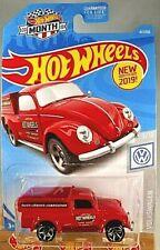 2019 Hot Wheels #47/250 Volkswagen 9/10 '49 VOLKSWAGEN BEETLE PICKUP Red Variant