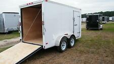 6X12 Enclosed Trailer Cargo Tandem V Nose 14 Utility Motorcycle 7 Lawn 2019