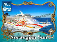 NORWEGIAN SUN Cruise Ship Photo MAGNET thin~flexible~glossy 4 X 3 inches