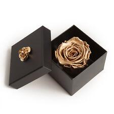 Goldene Rose Infinity Rosenbox 3 Jahre haltbar Geschenk Frauen Rose konserviert