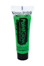 Neon Green UV Face and Body Paint Makeup Facepaint Accessory 10ml 45986 Smiffys