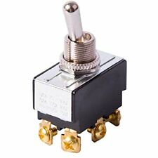 GSW-15 Heavy-Duty Toggle Switch, 20A 125VAC, Double Pole Throw, (ON)-(ON)