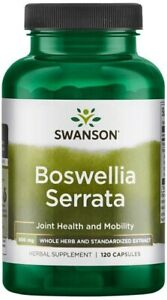 Swanson Boswellia Serrata Supports Joint Health & Mobility   500mg 120 Capsules