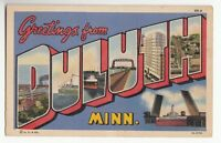 [48501] 1946 LARGE LETTER POSTCARD GREETINGS FROM DULUTH, MINNESOTA