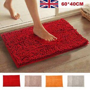 Fashion Soft Shaggy Bath Mat Non-slip Bathroom Rug Microfiber Floor Mat UK