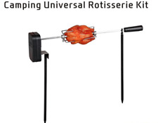 About 18inch Camping Universal Deluxe Rotisserie Kit for Grills Gas Deluxe Dyna