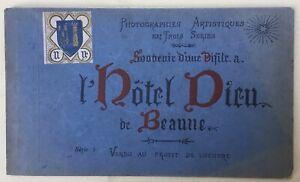 Vintage Postcard booklet: L'Hotel Dieu de Beaune. c1920s