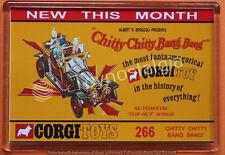 VINTAGE CORGI TOYS 266  CHITTY CHITTY BANG BANG POSTER FRIDGE / LOCKER MAGNET