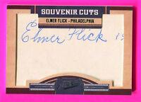ELMER FLICK AUTOGRAPH CARD 2011 PRIME CUTS  HOF SERIAL #22/25 VERY RARE SP