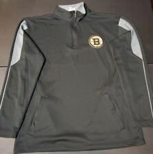 Boston Bruins Quarter Zip Jacket Mens Size Medium Official Licensed Product Nhl