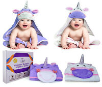 Unicorn Organic Bamboo Cotton Baby Hooded Bath Towel