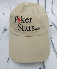Vintage PokerStars Poker Stars with Dot Com Hat Cap WSOP Tan Khaki