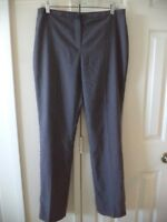 T Tahari Charcoal Grey Sharkskin Plain Front Slacks Dress Pant IT 44 UK 12 US 8