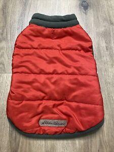 Eddie Bauer Pet Dog Jacket Fleece Red Medium