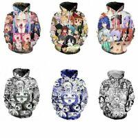 Ahegao Face Hoodie Hentai Manga Men's Sweatshirt Anime 3D Print Pullover Jacket
