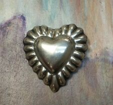 Sterling Silver Heart Brooch Pin Pendant Mexico Taxco Vintage 19.8 grams