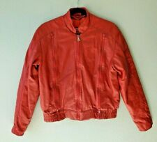 Hein Gericke Biker Mens Size 38 Red Leather Motorcycle Jacket Mesh Lining