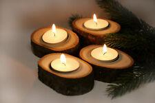 4er Set Teelichthalter / Kerzenhalter / Hochzeit / Hochzeitsdekoration m. Kerzen