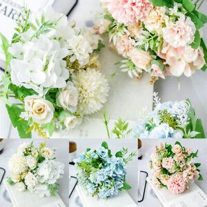 13 Heads Silk Artificial Peony Flowers Bouquet Bunch Wedding Home Garden Decors