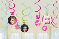 BARBIE Swirl Decorations Party Birthday Kids Supplies