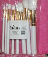 Terre Mere Vegan  Brushes WHITE 8 pieces SET  FULL SIZE