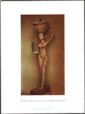 ANTICA STAMPA - ARTE EGIZIA - XI DINASTIA - LA PORTATRICE DEL MASTELLO - 1957