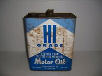 Vintage Hi Grade Motor Oil St. Louis, Mo. 2 Gallon Can Gas Station Advertising