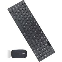 Slim 2.4G  Wireless Keyboard and Cordless Optical Mouse Combo For PC black