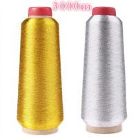 Hecho a mano Gold / Silver Wire Maquina de coser Punto de cruz Hilo de bordar
