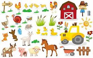Wandtattoo Bauernhof Farm Dorf ab 25.90€ Landschaft Weide Pferde Gut