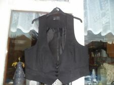 Waist Length Casual Striped Plus Size Waistcoats for Women