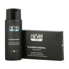 Hair Loss Shock Treatment Set Plant Placenta 10 vials + Shampoo 250 ml Nirvel