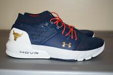 Under Armour UA HOVR Project Rock 2 Veteran's Day Mens Training Shoes Navy Sz 10