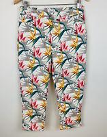W Lane Womens Denim Jeans Size 10 Floral Multicoloured Good Condition