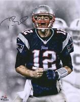 Tom Brady New England Patriots Autographed 16x20 Screaming Photograph - TRISTAR
