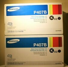 Samsung CLT-P407B Toner Cartridges (2 per box) - New in box (2 boxes = 4 toners)