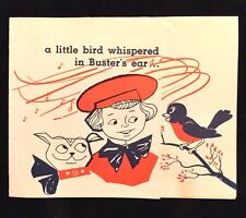 Vintage 1950s Buster Brown Birthday Card Advertising Memphis TN
