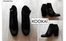 """BOOTS/BOTTINES  NEUVES """"KOOKAI"""" EN CUIR&ORNÉES DE PETITS CLOUS P.40 VALEUR 179€"""