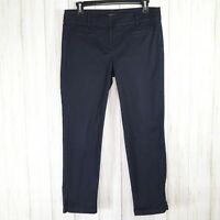 Ann Taylor Signature Blue Cropped Pants Size 4 Womens Cotton Straight Crop euc