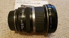 Canon EF-S 10-22 mm f/3.5-4.5 USM Ultra Wide Angle Lens 10-22mm