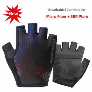 Rockbros Cycling Half Finger Bicycle Gloves SBR MTB Road Bike Gloves Breathable