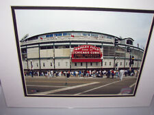 OFFICIAL MAJOR LEAGUE BASEBALL PHOTOGRAPH OF WRIGLEY FIELD IN CHICAGO