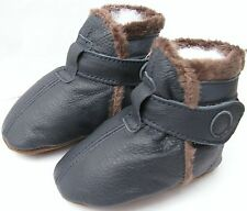 carozoo booties dark blue 18-24m C1 soft sole leather baby shoes