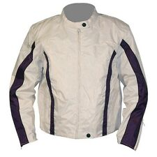 NexGen Textile Lightweight Motorcycle Jacket White/Purple  Womens XLarge