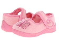 Slippers Girls Pink with  Butterflies  by Ragg  Little Girls Size 12