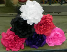 """Mexican Paper Flowers Set of 6- Multicolor Dark Roses """"We Make Special Orders"""""""
