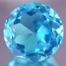 4.4 ctw 10 mm round  Bule simulated Aquamarine gemstone