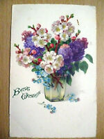 Vintage posted Postcard 'Best Wish' -Jesus Himself drew near & went...with Stamp