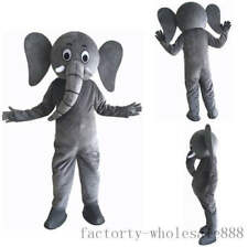 Halloween Parade Elephant Mascot Costume Suit Party Dress Outfit Birthday Unisex