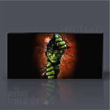 INCREDIBLE HULK AWESOME ICONIC CANVAS ART PRINT - Art Williams UPGRADE 120x56cm